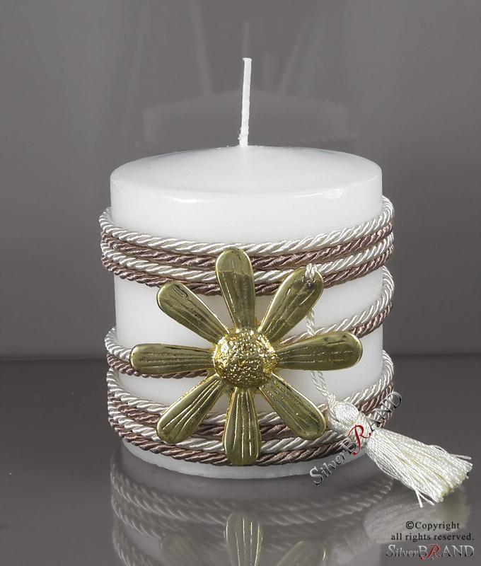 Διακοσμητικό κερί με επίχρυσο στοιχείο