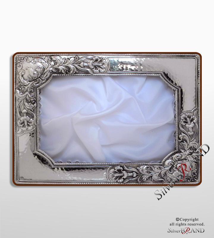 Ασημένια Στεφανοθήκη  παραλληλόγραμμη σφυρήλατη