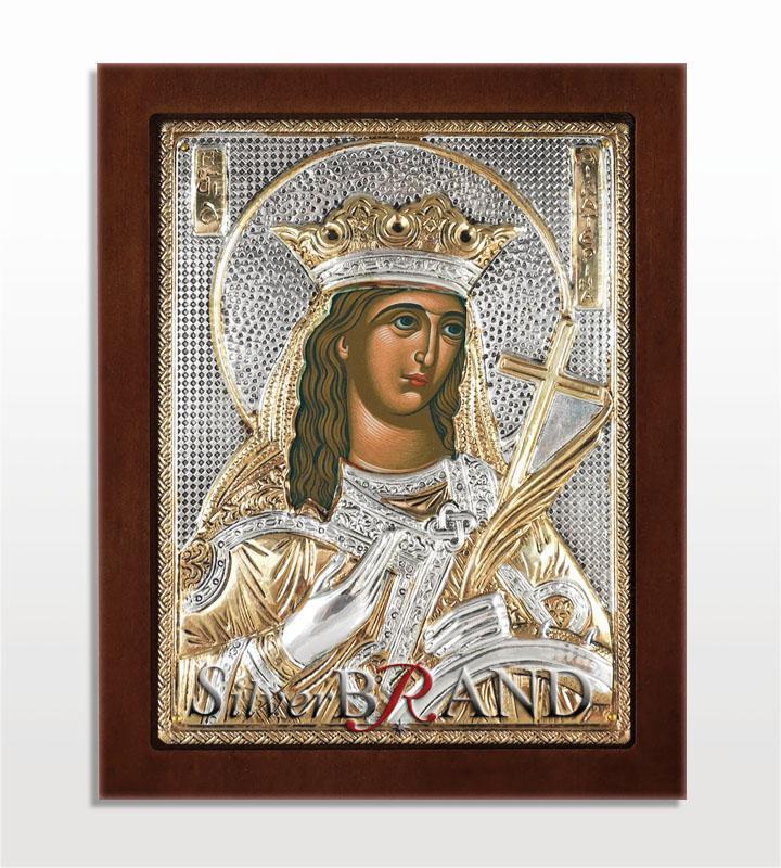 Αγία Αικατερίνη (Ασημένια Εικόνα 20x16cm)