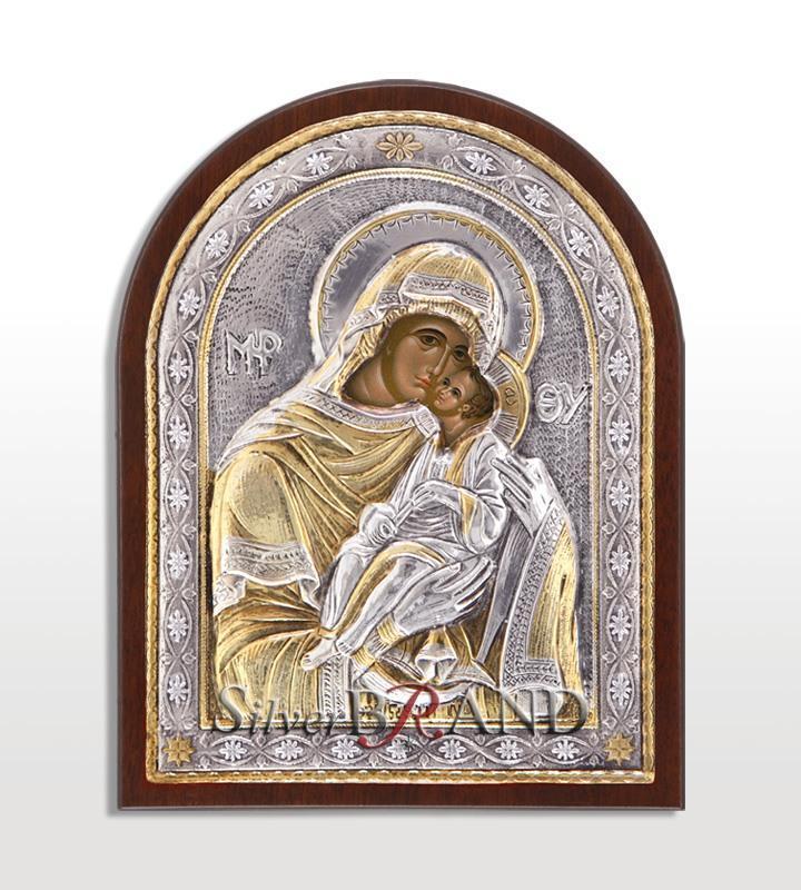 Παναγία Γλυκοφιλούσα (Ασημένια Εικόνα 14x11cm)