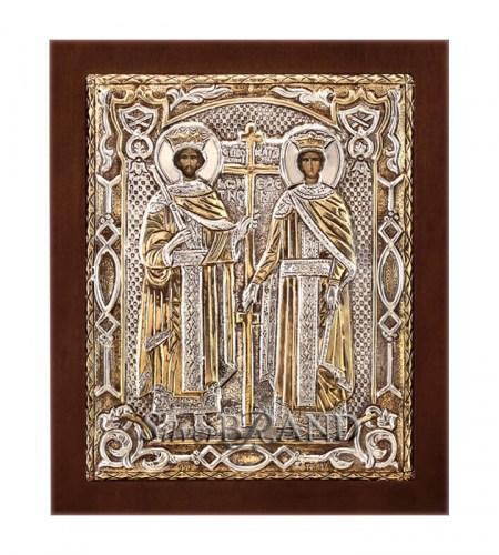 Orthodox_Silver_Icon_St.Constantine_&_St.Helen_Святые_Константин_И_Елена_c:66151271_249B G