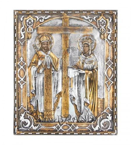 Orthodox_Silver_Icon_St.Constantine_St.Helen_Святые_Константин_И_Елена_c:66221861_3221